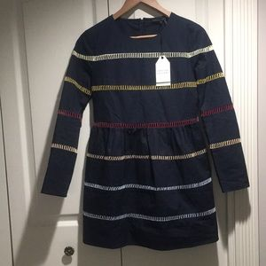 English Factory Sweet As Ever Navy Multi Dress XS